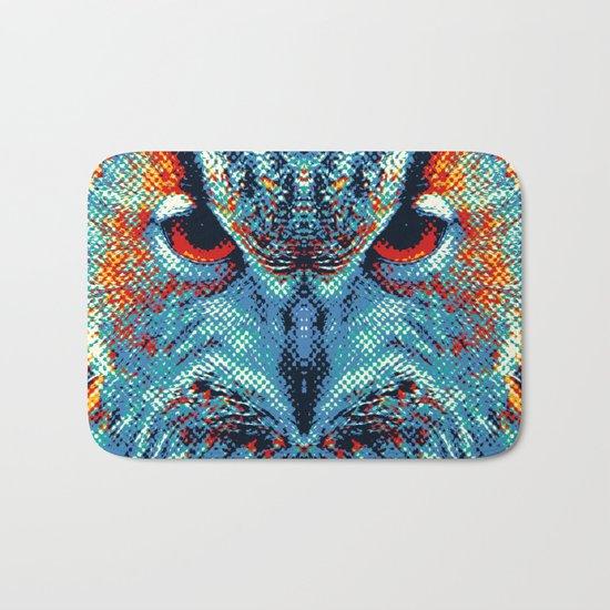 Owl - Colorful Animals Bath Mat