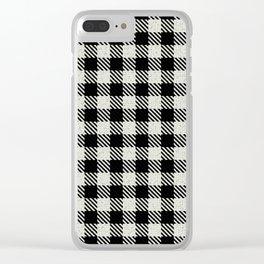 Cornsilk  Bison Plaid Clear iPhone Case