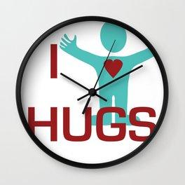 I heart Hugs Wall Clock