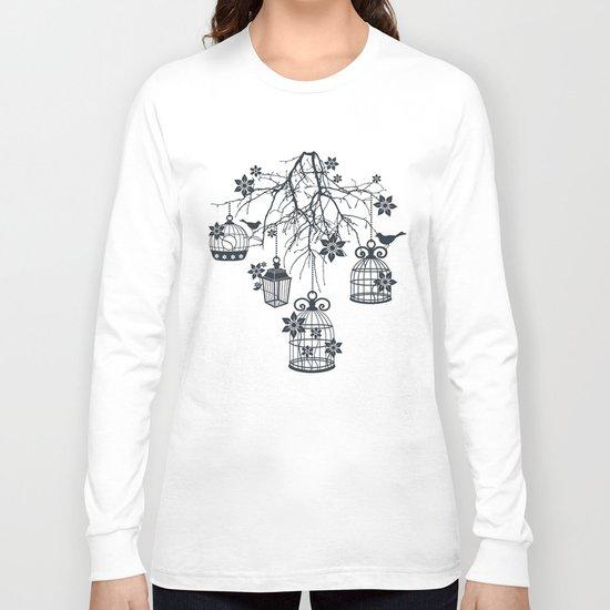 Bird Cage Chandelier Long Sleeve T-shirt