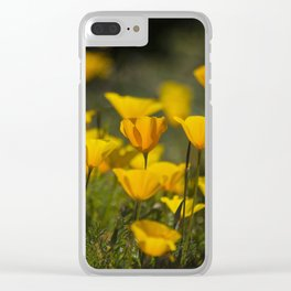 Springtime Poppies Clear iPhone Case