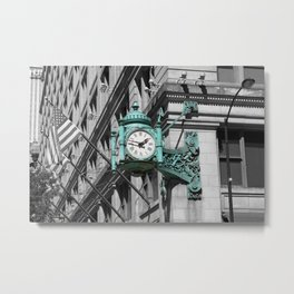 Chicago Marshall Field's Clock Photo Metal Print