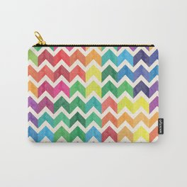 Watercolor Chevron Pattern IV Carry-All Pouch