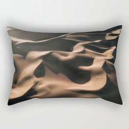 Lovers in the Sand - Aerial Landscape Photography Rectangular Pillow