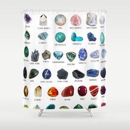 crystals gemstones identification Shower Curtain