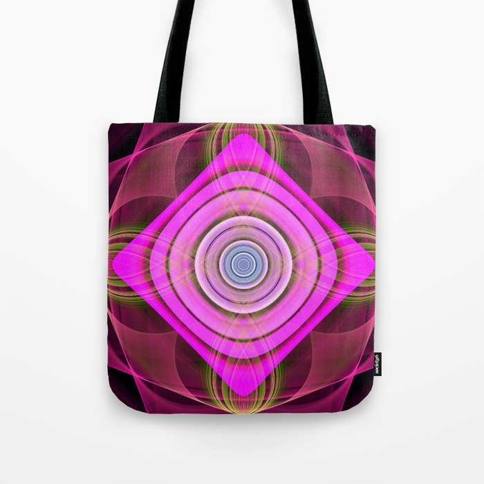 Colourful geometric abstract with translucent patterns Tote Bag