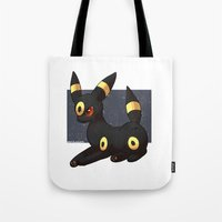 umbreon Tote Bags featuring Umbreon by Mirikun