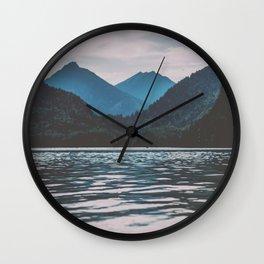 Bannwaldsee, Schwangau  lake in Bavaria Germany Wall Clock