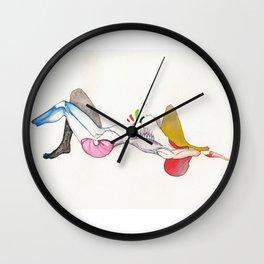 Sensation, nude emotional female, NYC artist Wall Clock