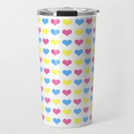 '80s hearts (larger) - Back to Basics Travel Mug