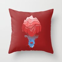 elk Throw Pillows featuring Elk by Trevor Seymour