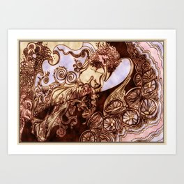 Deep Daze by MaxillaMellifer, aka Rosemary Knowles Art Print