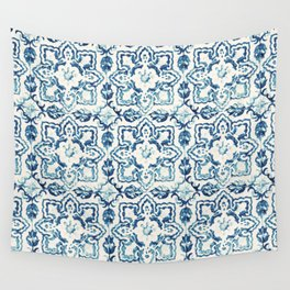 Azulejo IV - Portuguese hand painted tiles Wall Tapestry