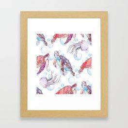 Under the Sea (Sea Turtles) Framed Art Print