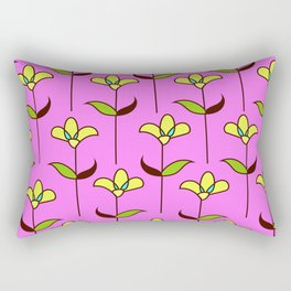 Genevieve - Pink and Yellow Rectangular Pillow