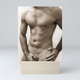 Sexy man body Mini Art Print
