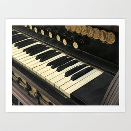 Organ Keys Art Print
