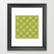 Star Pods - Green Framed Art Print