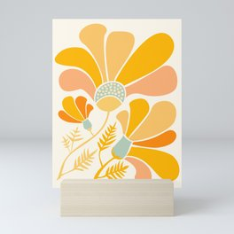 Summer Wildflowers in Golden Yellow Mini Art Print