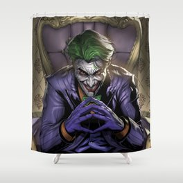 JOKER CLOWN PRICE OF CRIME Shower Curtain