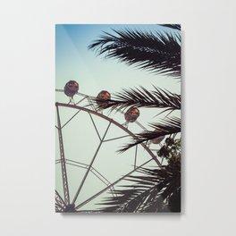 barcelona ferris wheel Metal Print