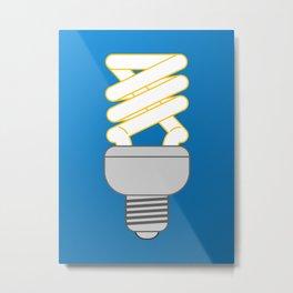 Eco thinking. bulb Metal Print