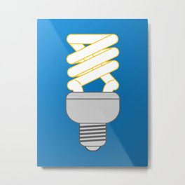 Eco thinking. bulb Metal Print