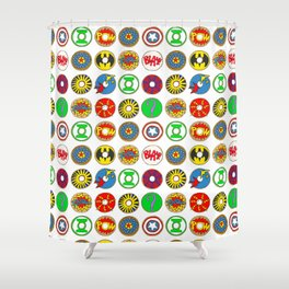 Superhero Donuts Shower Curtain