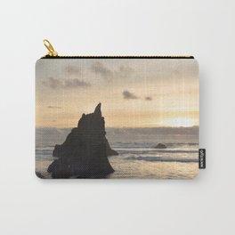 Arcadia Beach Sunset Lion Rock Oregon Coast Pacific Ocean Carry-All Pouch