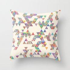 Rainbow Rain Throw Pillow