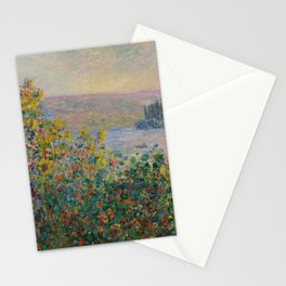 Flower Beds at Vétheuil Stationery Cards