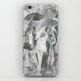 In the Rain iPhone Skin