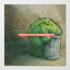 Trashcan : Bubblegum Canvas Print