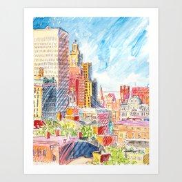 Providence, RI, from Prospect Park Art Print