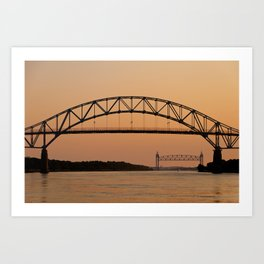 Bourne Bridge/Cape Cod Canal Art Print