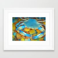 crab Framed Art Prints featuring Crab by ShannonPosedenti
