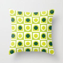 Geometric Pattern #210 (lime green) Throw Pillow