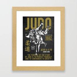 Judo, Jigoro Kano Quote Framed Art Print