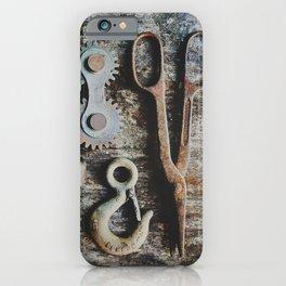 Dad's Rustic Tools iPhone Case