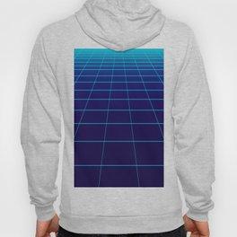 Minimalist Blue Gradient Grid Lines Hoody