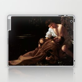 Saint Francis of Assisi in Ecstasy by Caravaggio (1595) Laptop & iPad Skin