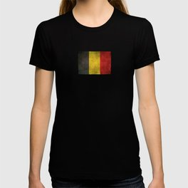 Old and Worn Distressed Vintage Flag of Belgium T-shirt