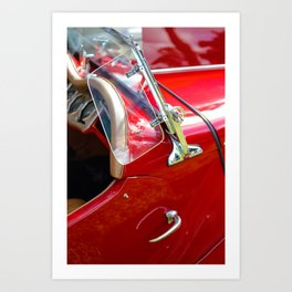 Red Hot Rod Exterior Art Print