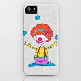 Juggling Clown iPhone Case