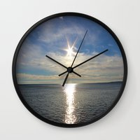 shining Wall Clocks featuring Shining by NaturallyJess
