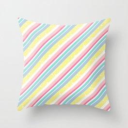 Party stripes Throw Pillow
