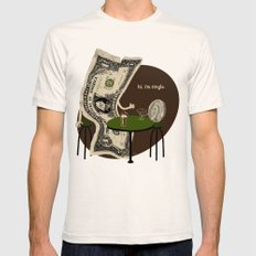 Pick up line SMALL Mens Fitted Tee Natural