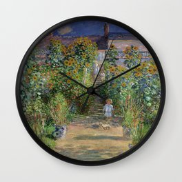 Claude Monet's Monet's Garden at Vetheuil Wall Clock