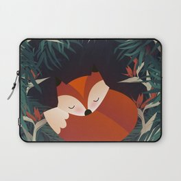 Cute Sleping Forest Fox Laptop Sleeve