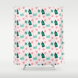 Gin and tonic pattern Shower Curtain